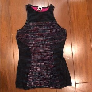 Missioni high neck stretchy tank top